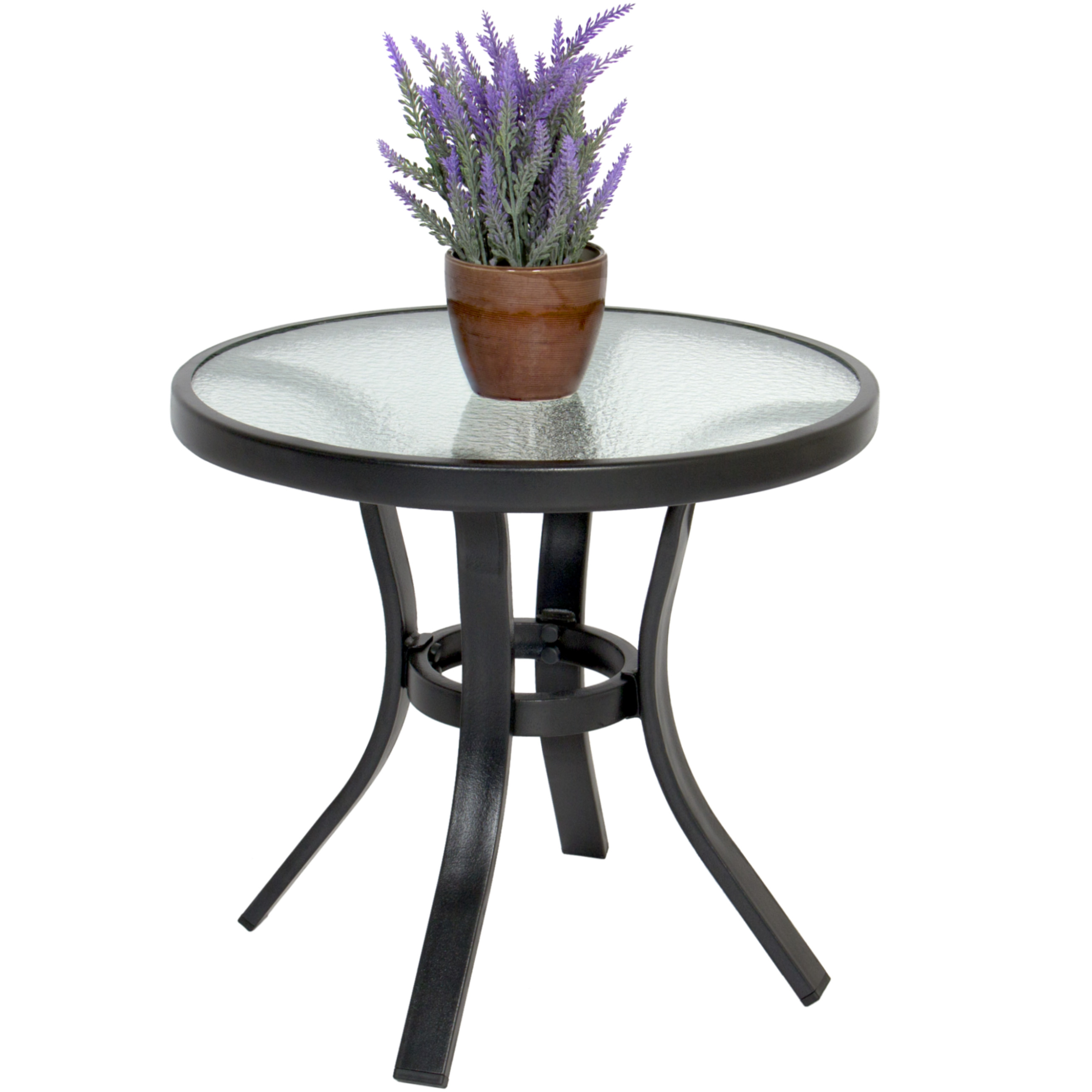 bestchoiceproducts best choice products patio outdoor side table glass top steel tempered corner television stand mosaic garden and chairs currey company brass coffee kmart