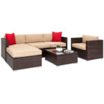 bestchoiceproducts best choice products piece outdoor patio accent chair set with table wicker sectional sofa unfinished desk cocktail and end sets chairs white gloss side hampton 150x150