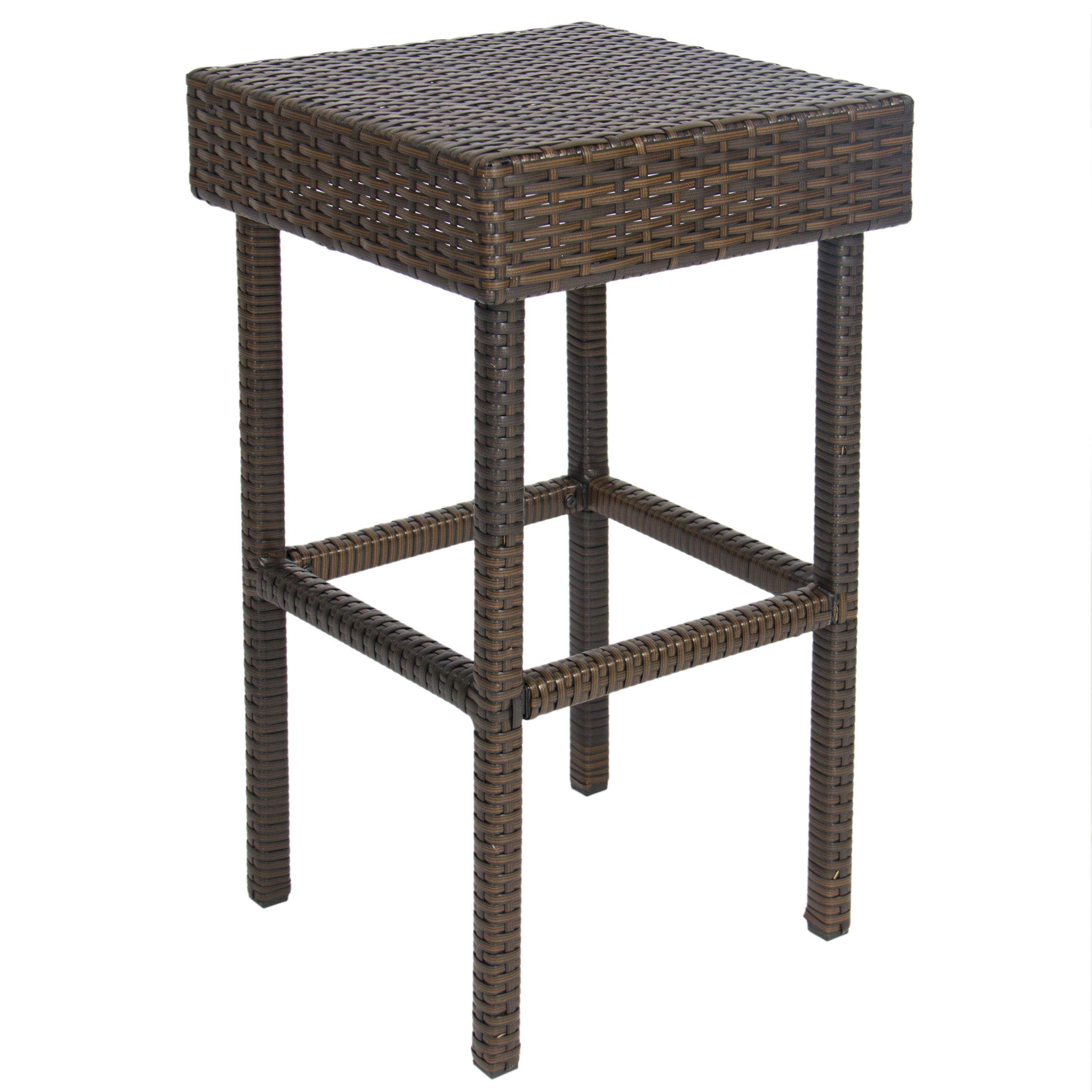 bestchoiceproducts best choice products wicker bar set patio middletown accent table outdoor backyard stools rattan garden turquoise dresser plastic storage loveseat clearance