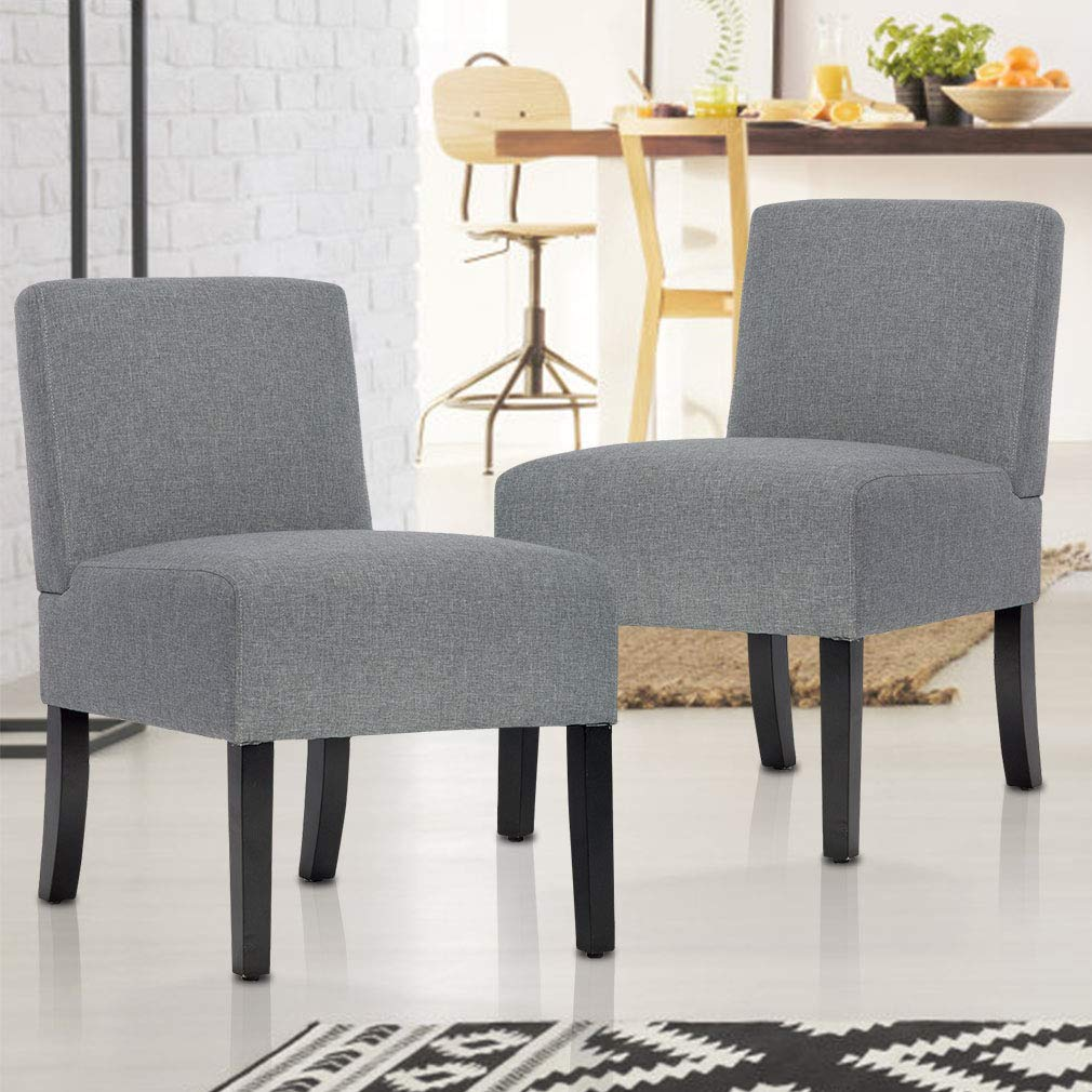 bestmassage modern design fabric armless accent dining chairs sofa with solid wood legs set furniture garden outdoor white chest small rustic coffee table side charging station