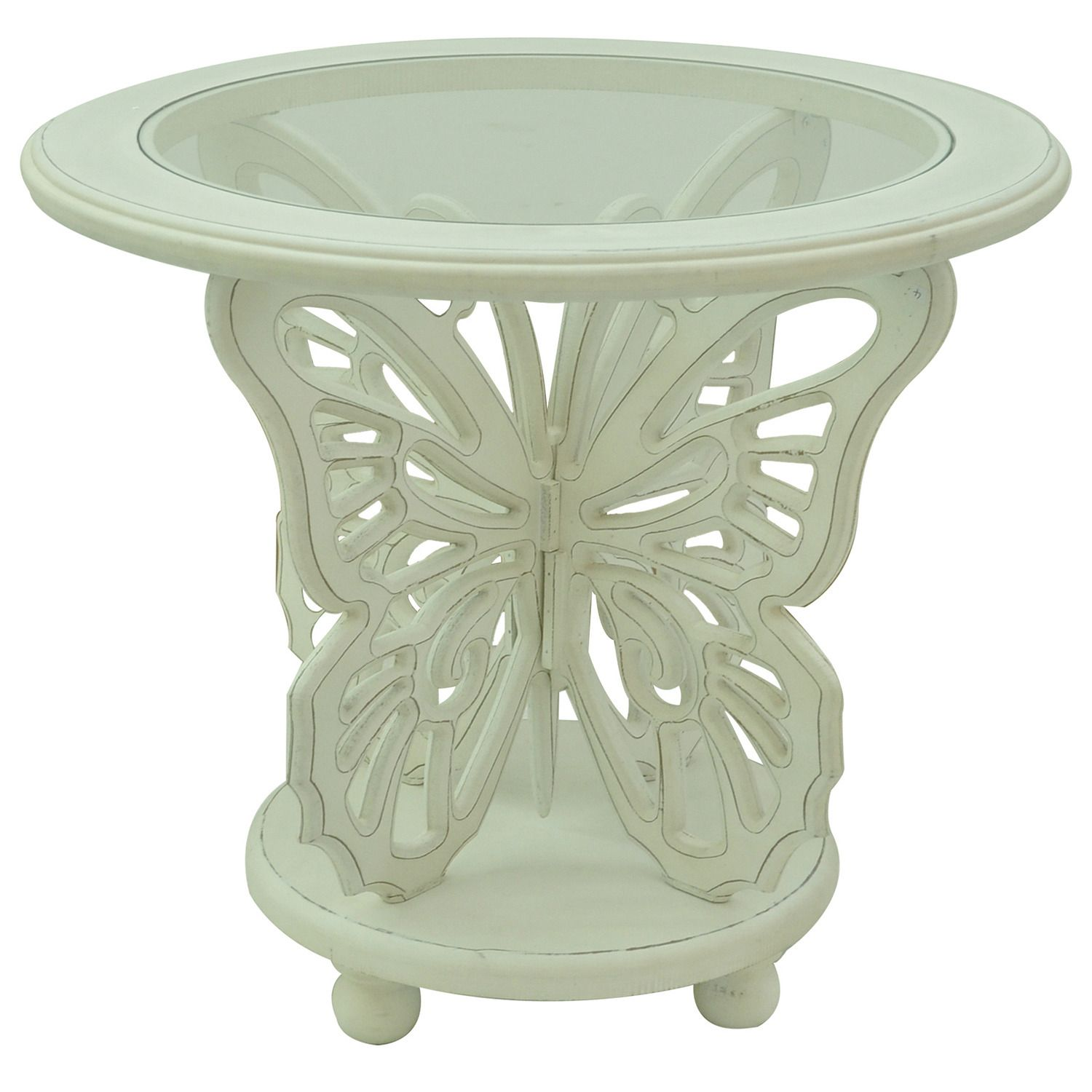 bethany white butterfly table crestview collection home gallery glass accent end tablecloth small drop leaf plastic patio and chairs short side high set entrance way tables bar