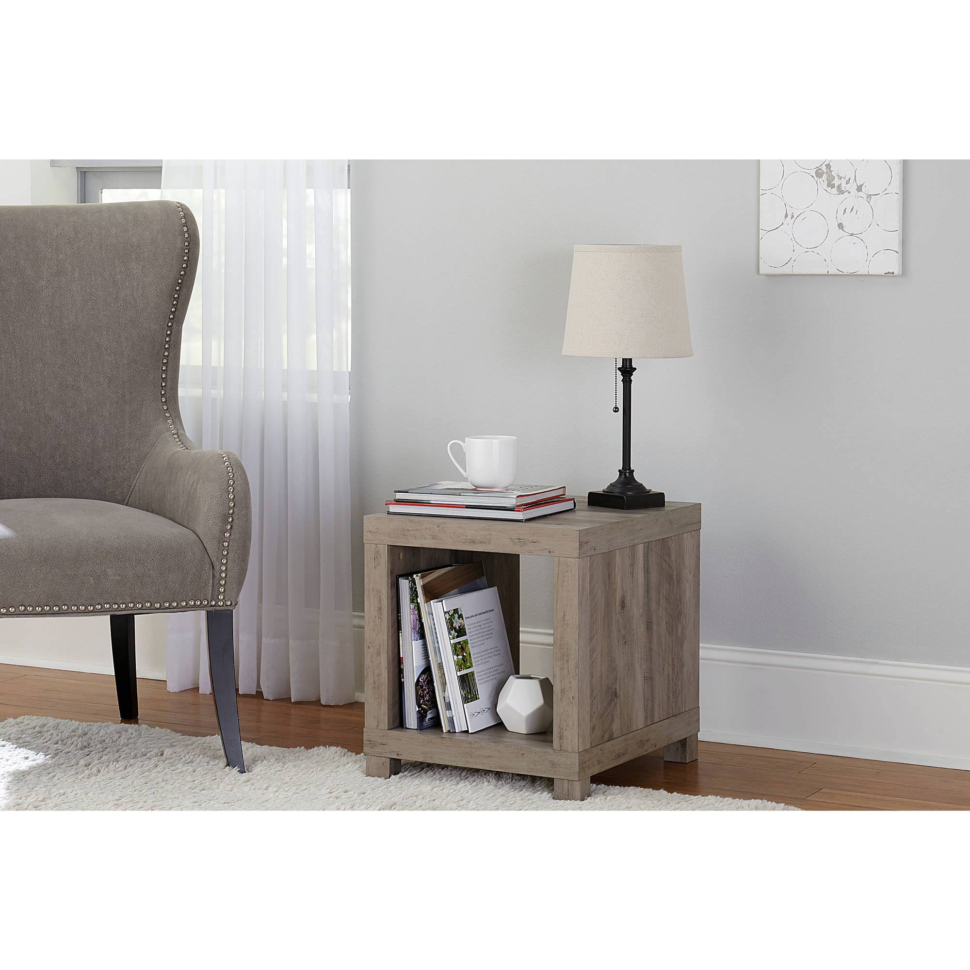 better homes and gardens accent table rustic gray white marble bistro gold lamp tablecloth narrow hallway console cabinet fold away desk living room armchair side shades coffee