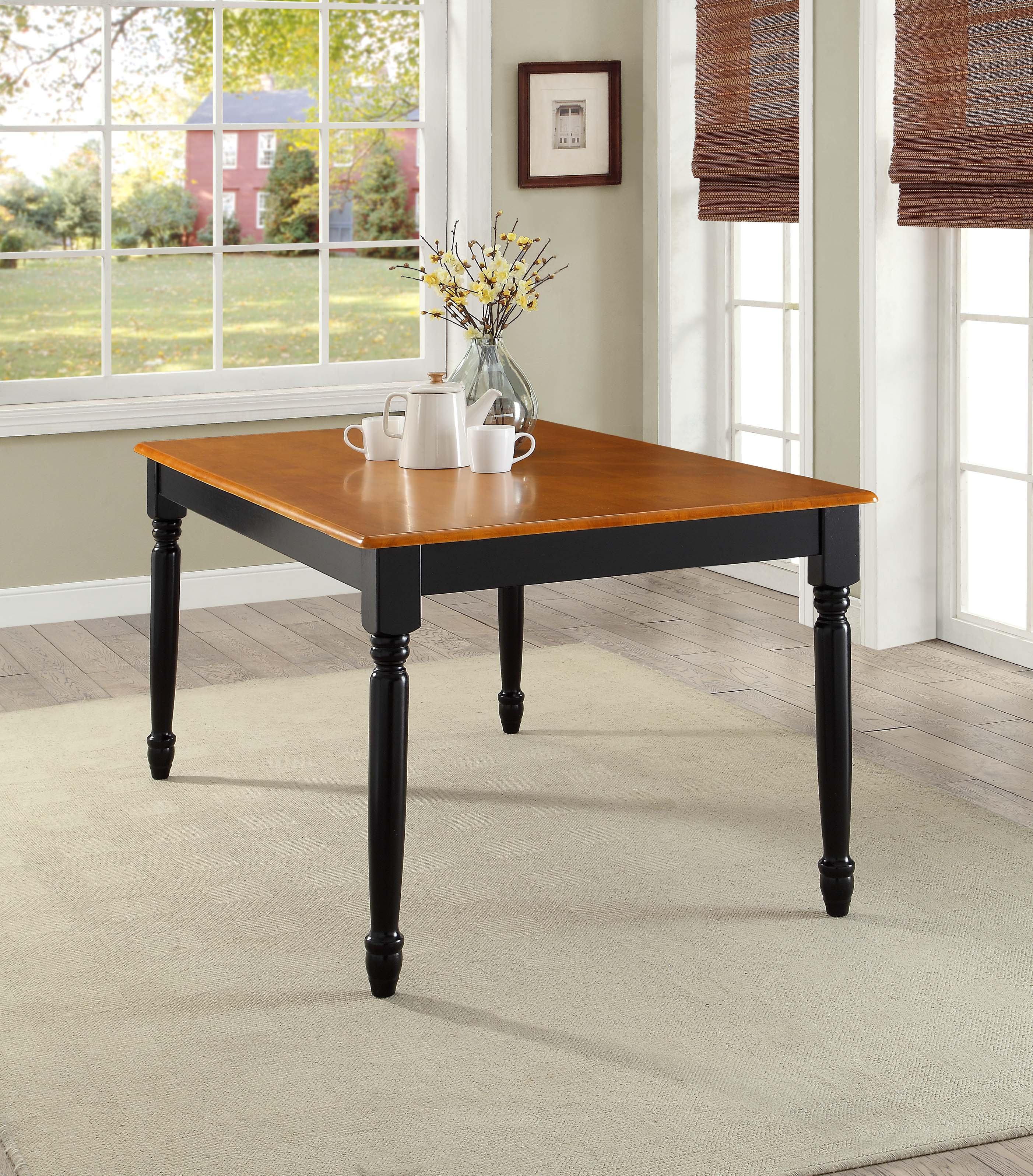 better homes and gardens autumn lane farmhouse dining table black room furniture oak mercer accent vintage outdoor sydney end stands for living diy twin frame target brown leather