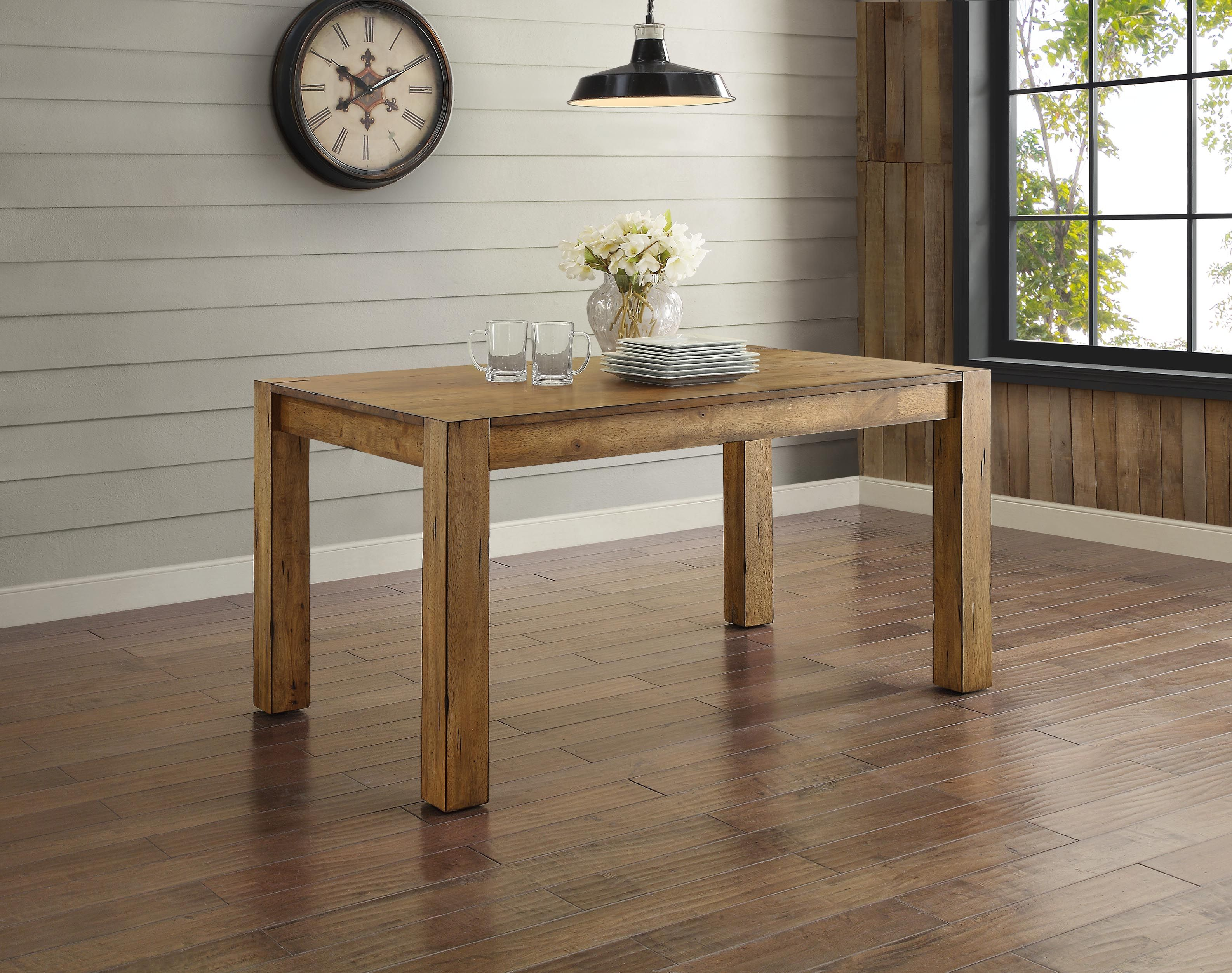 better homes and gardens bryant dining table rustic brown mercer accent vintage oak mirror top end antique console white gold coffee drop leaf desk inch square vinyl tablecloth