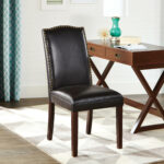 better homes and gardens faux leather accent chair with nailheads table island county cooler coffee small porch outdoor wicker furniture clearance elemental covers square metal 150x150