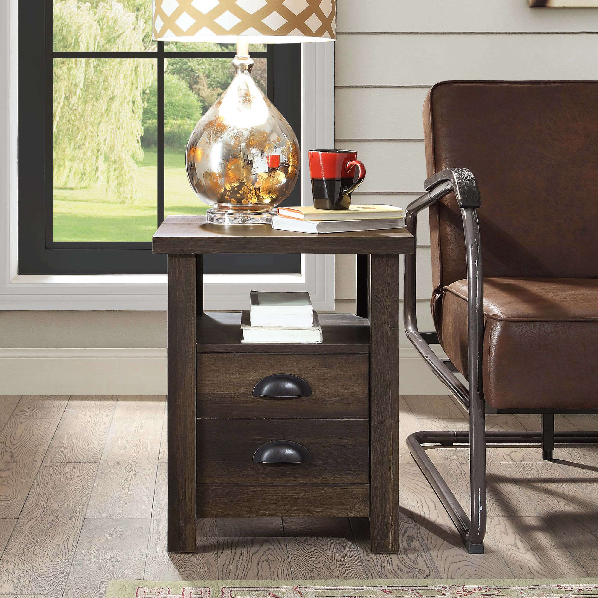 better homes and gardens granary modern farmhouse end table accent multiple finishes oversized comfy chair half moon with storage painted wood coffee sheesham pier one bedding