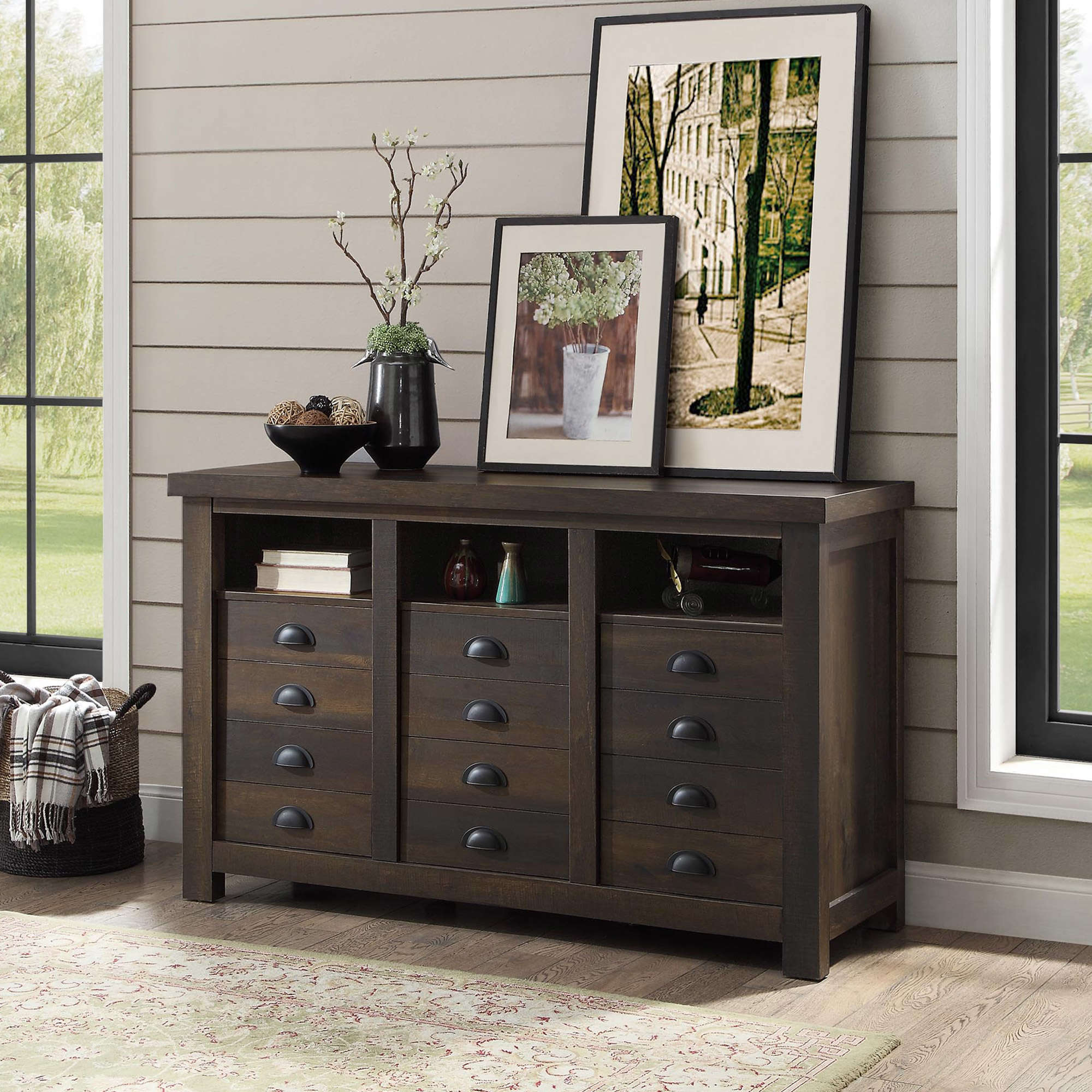 better homes and gardens granary modern farmhouse printers accent table rustic gray cabinet multiple finishes martin desk bathroom basin glass mirror dresser prefinished solid