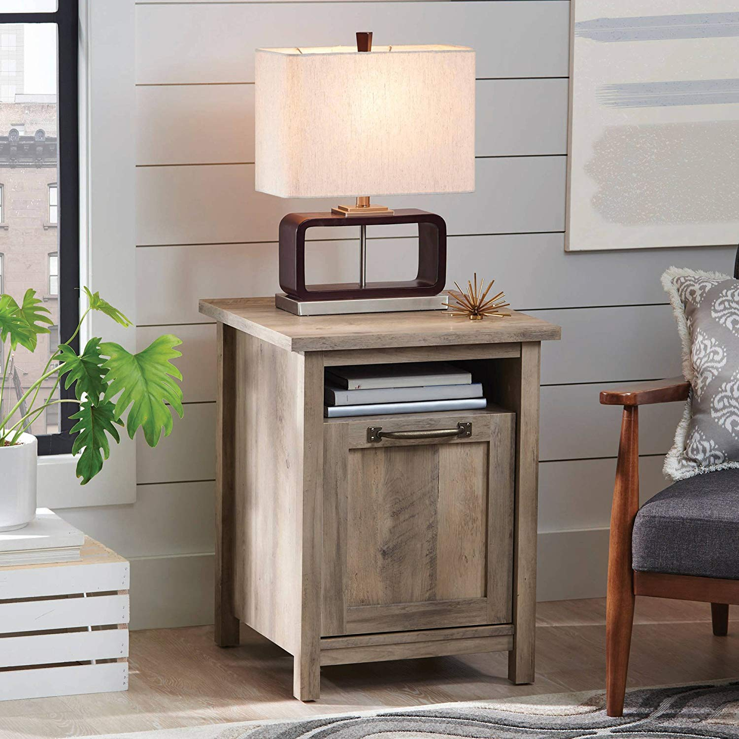 better homes and gardens modern farmhouse side table accent rustic gray nightstands finish health personal care wireless bedside lamp plus tablet brass nightstand prefinished