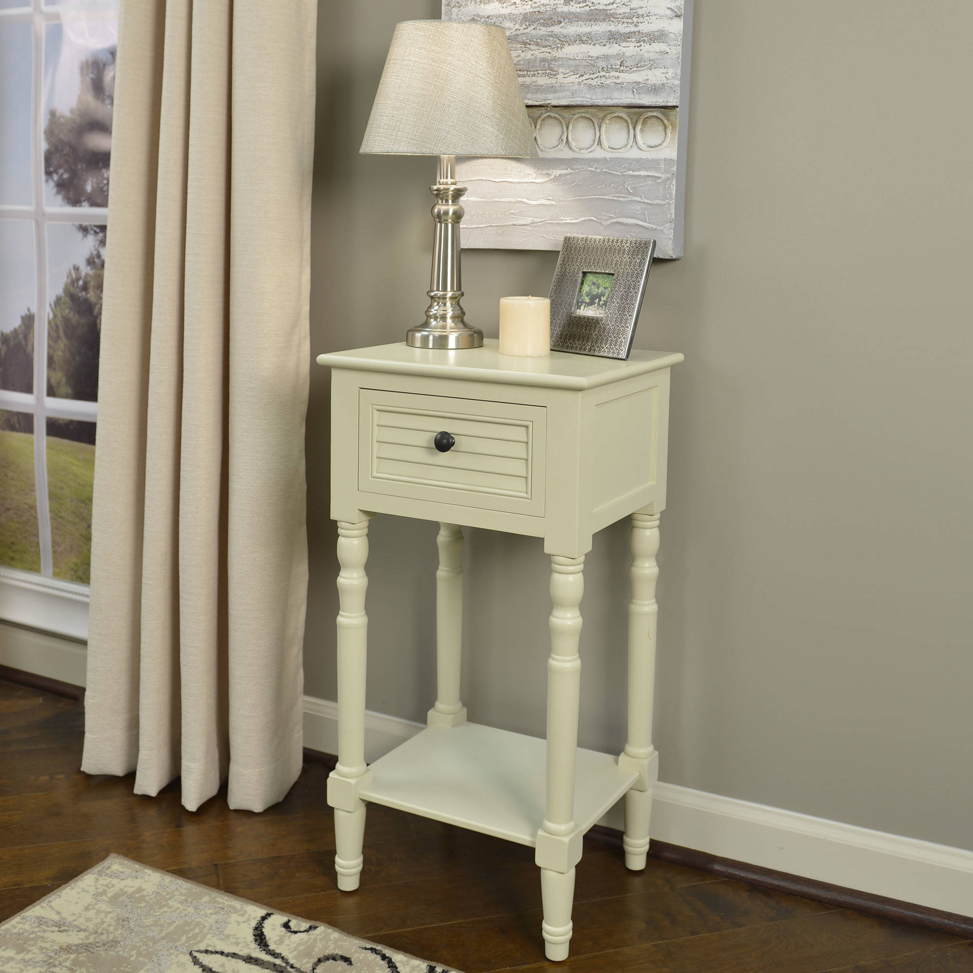 better homes and gardens shutter accent drawer table multiple colors end bench ikea white coffee with drawers winners only furniture teal corner pier chairs gold vinyl tablecloth