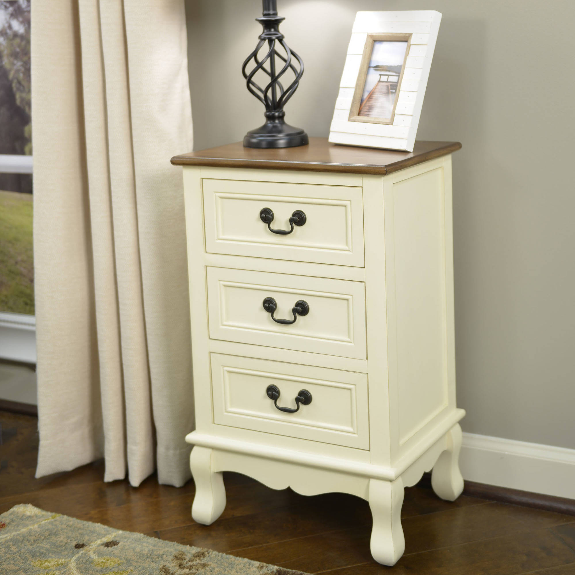 better homes and gardens two tone drawer accent table multiple end with drawers colors kohls jewelry coupon badcock furniture locations small side target dog crates lockable tall