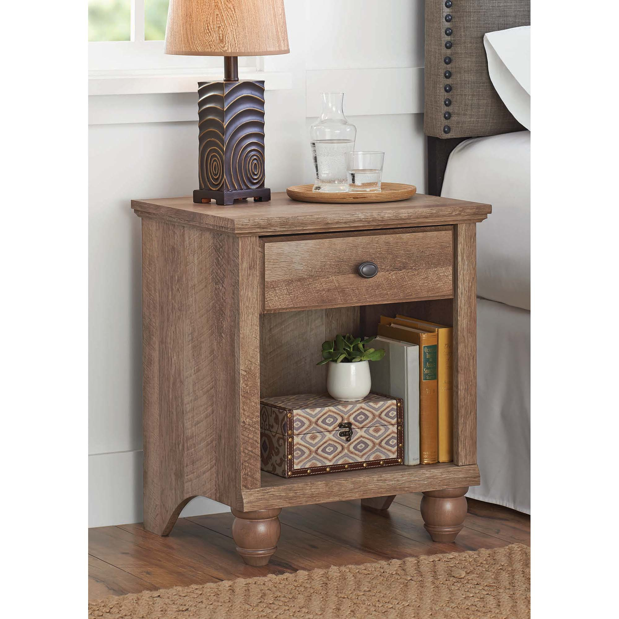 better homes gardens crossmill accent table weathered finish room essentials white bathroom vanities wagon coffee small console black and laminate door threshold hobby lobby