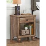 better homes gardens crossmill accent table weathered finish round cloths marble door threshold target gold bar cart long tray modern chair design cocktail linens glass cabinet 150x150
