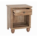 better homes gardens crossmill accent table weathered finish small pine pub tops mid century modern legs bird dresser and changing wrought iron nesting tables white console 150x150