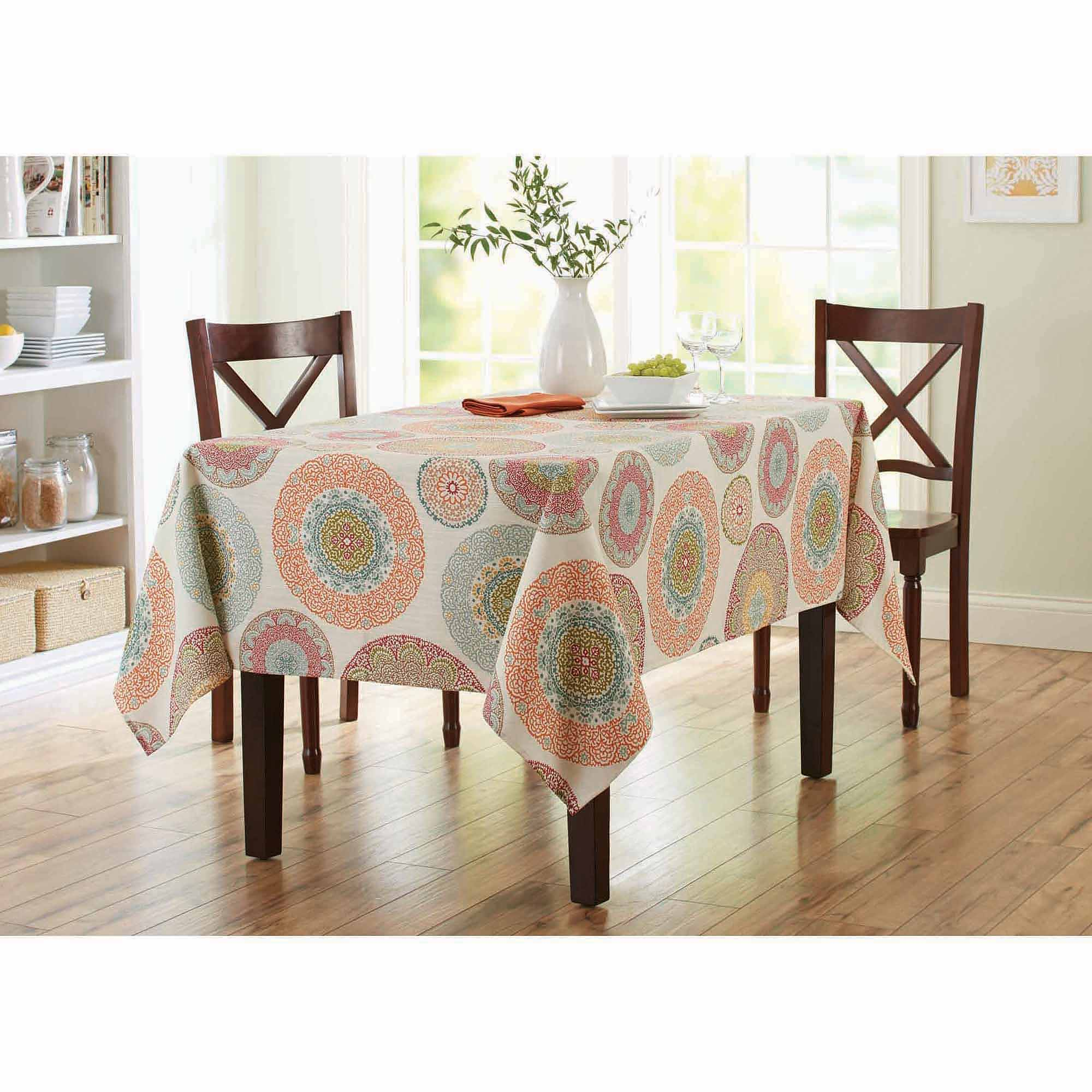 better homes gardens lace medallion tablecloth round accent white patio table low coffee with drawers west elm topper patterns sewing lawn furniture battery standard lamp high