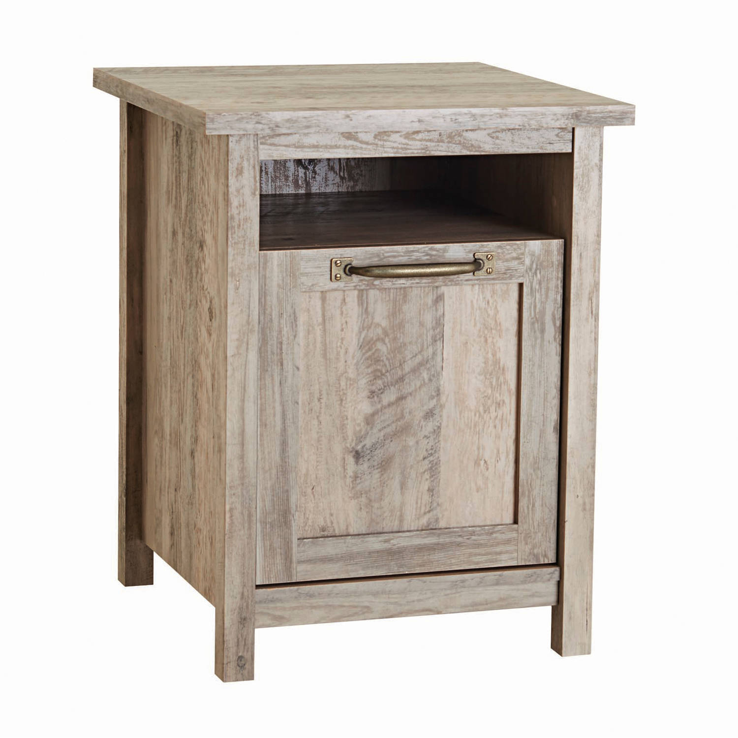 better homes gardens modern farmhouse side table rustic gray accent departments pub cloths wooden with drawer threshold yellow campaign entryway storage baskets inch high coffee