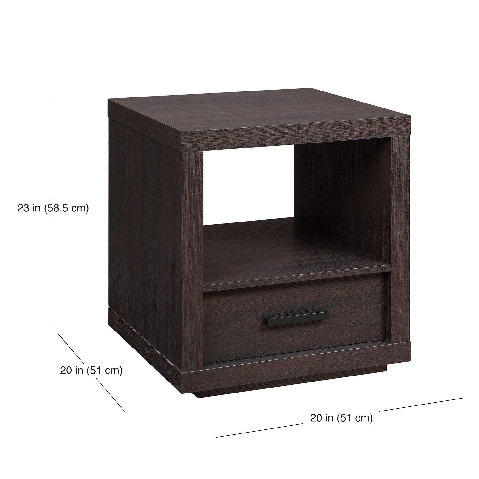 better homes gardens steele end table with drawer espresso finish tables power supply best patio furniture rustic coffee centerpieces granite top side argos display cabinet and