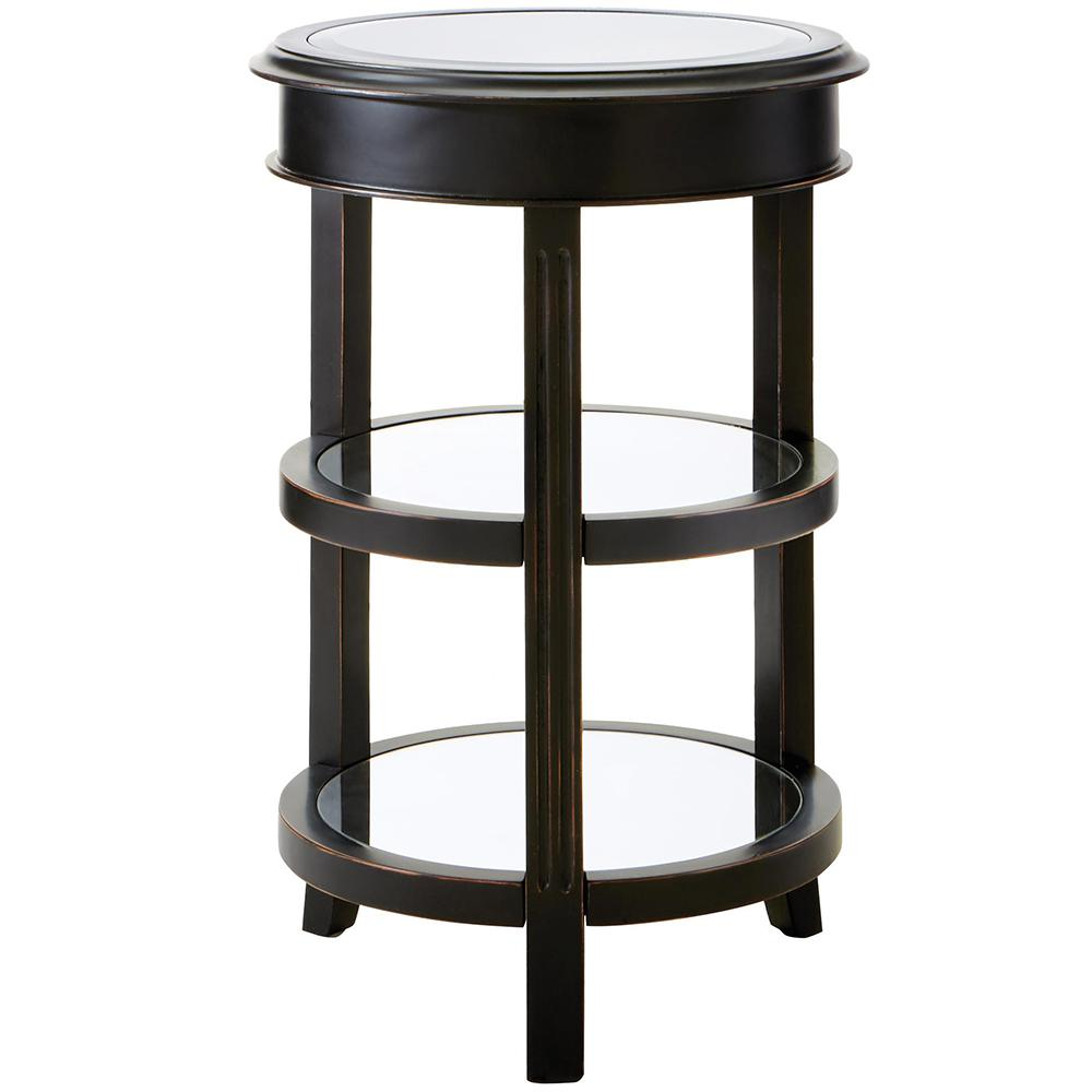 bevel mirror gold round accent table the antique black and end tables small this review from modern lamp outside storage containers console foyer wood with glass top tall oak side