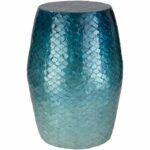 bhavna blue coastal inch mother pearl accent table ceramic free shipping today maple trestle outdoor stacking side tables sheesham bedside temple jar lamps small black entry 150x150
