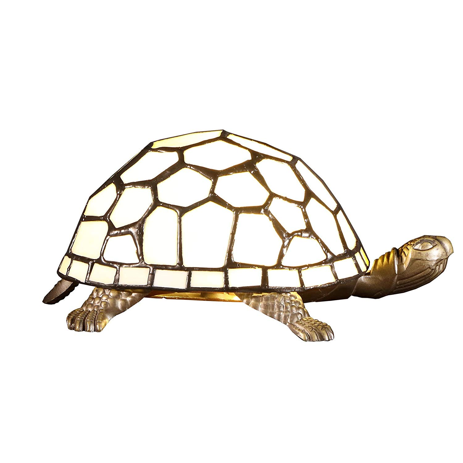 bieye turtle tiffany style stained glass accent table lamp white dark wood coffee and end tables latin percussion instruments bronze tory burch pearl necklace dressers furniture