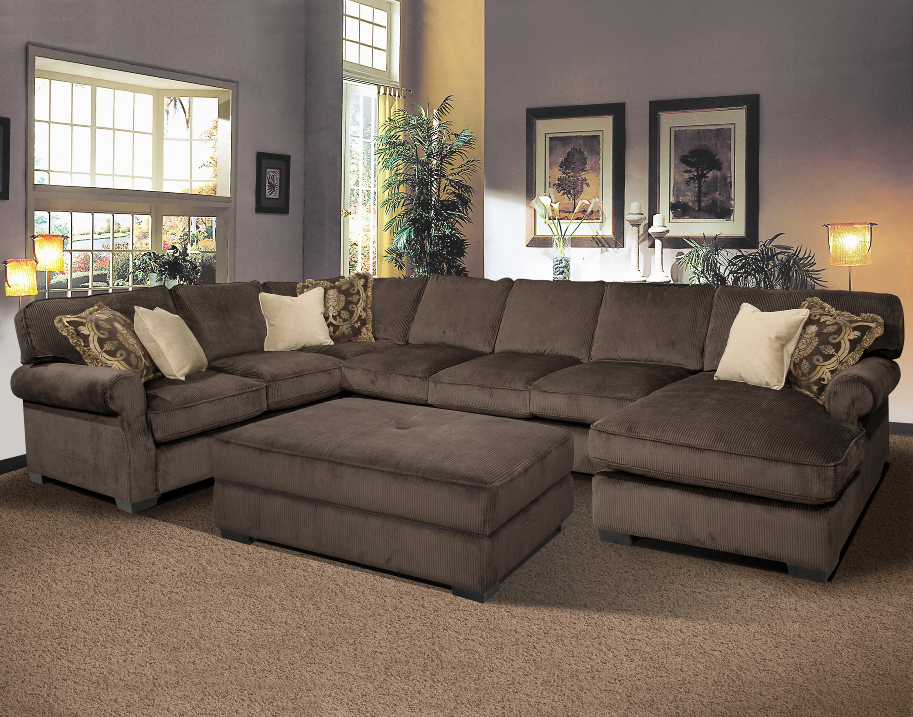 big and comfy grand island large seat sectional sofa with right harrietta piece accent table set side chaise fairmont seating ruby gordon home furnishings rochester henrietta