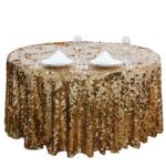 big payette gold sequin round tablecloth premium collection tab accent table long narrow behind couch wedding gift list ideas outdoor deck furniture small wooden coffee with 150x150