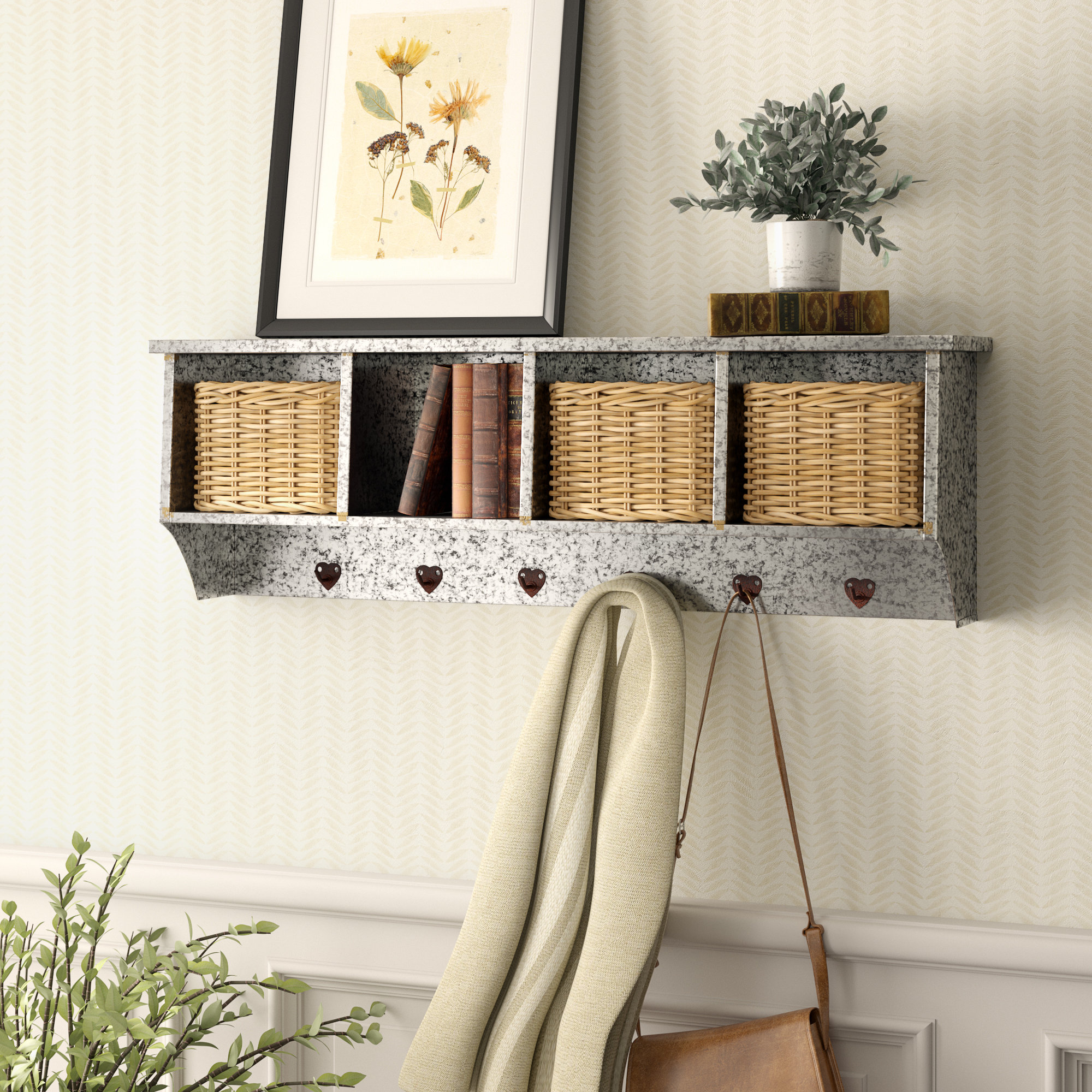 birch lane heritage cottesmore galvanized iron entry organizer metal accent table reviews couch furniture mirrored box coffee marble piece set end tables with storage bedside