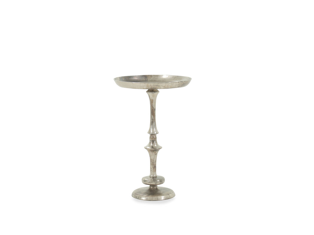 birdbath top transitional accent table antique nickel mathis pul silver pedestal supported base with delightful details this features recessed for allure vanity runners next black