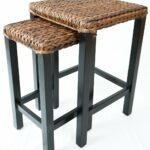 birdrock home seagrass nesting accent tables hand antique small woven fully assembled kitchen dining wood end table with glass top ashley furniture retro cabinet foyer console 150x150
