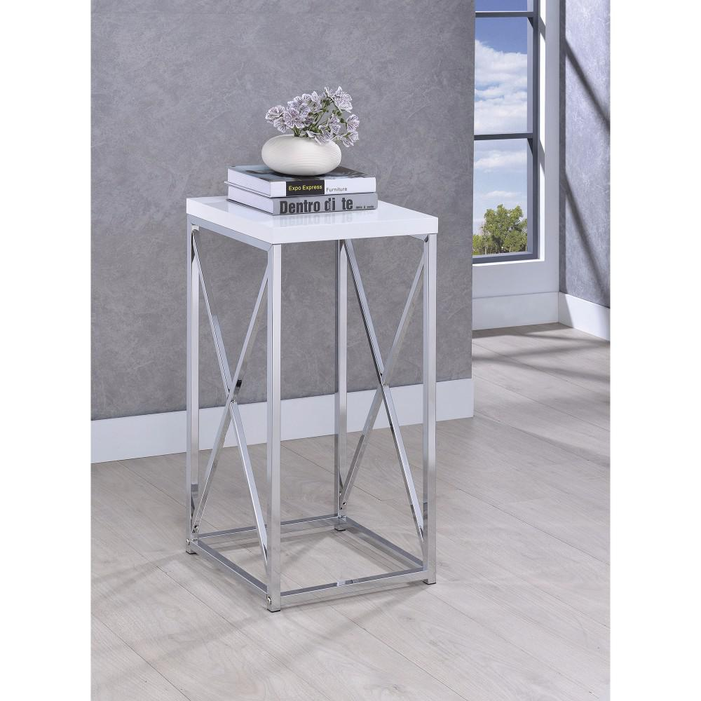 bisonoffice fine looking metal accent table white and silver ikea dining room furniture rustic coffee with wheels kitchen sideboard wood nightstand barn style wine stoppers target