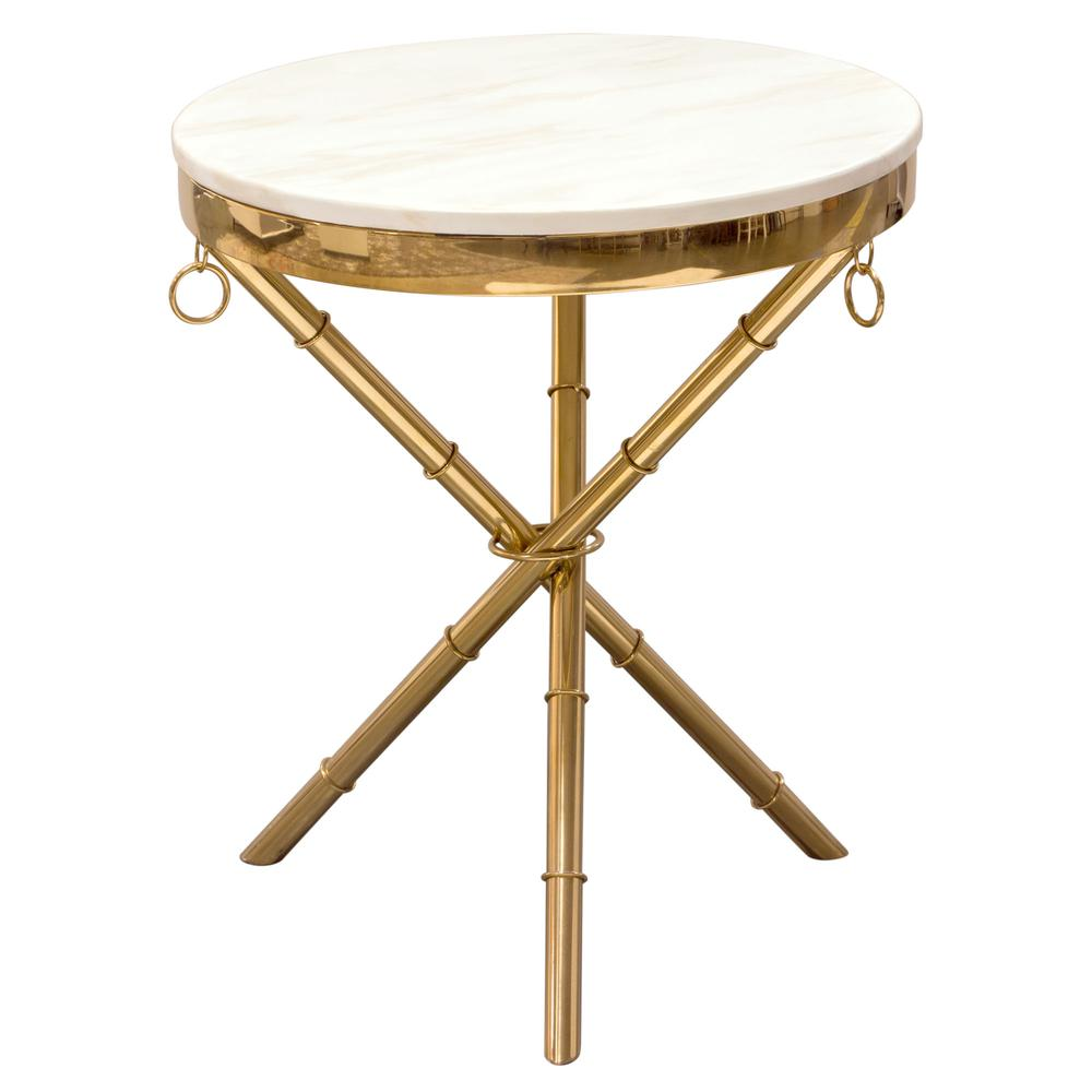 bisonoffice reed round accent table with white marble top and gold metal folding finished base diamond sofa west elm leather ott unfinished wood console wooden bedside lamps