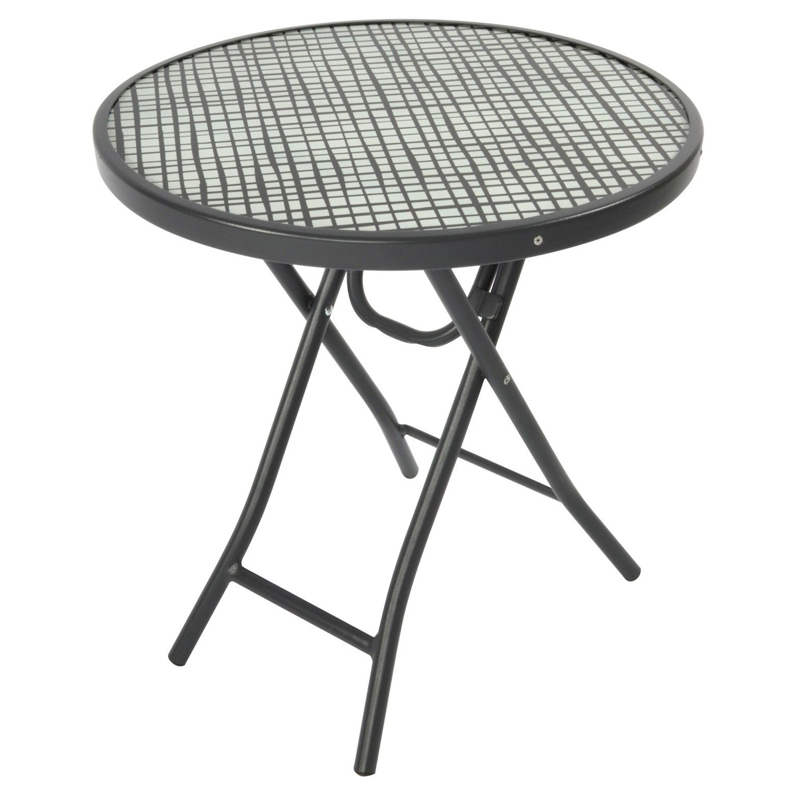 bistro round folding accent table black white pattern room outdoor essentials top legs sheesham side tile patio furniture astoria grand bedroom sets long narrow farmhouse dining