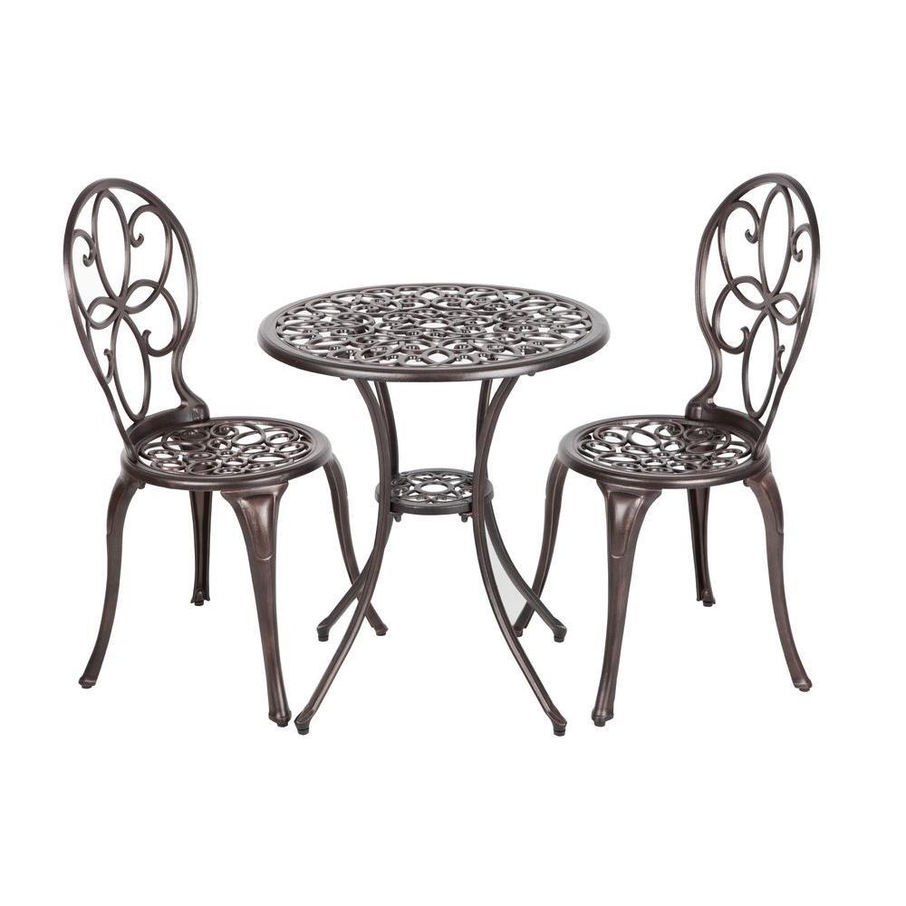 bistro sets patio dining furniture the sense spring haven umbrella accent table arria antique bronze piece cast aluminum set lenovo white drop leaf kitchen for less hobby lobby