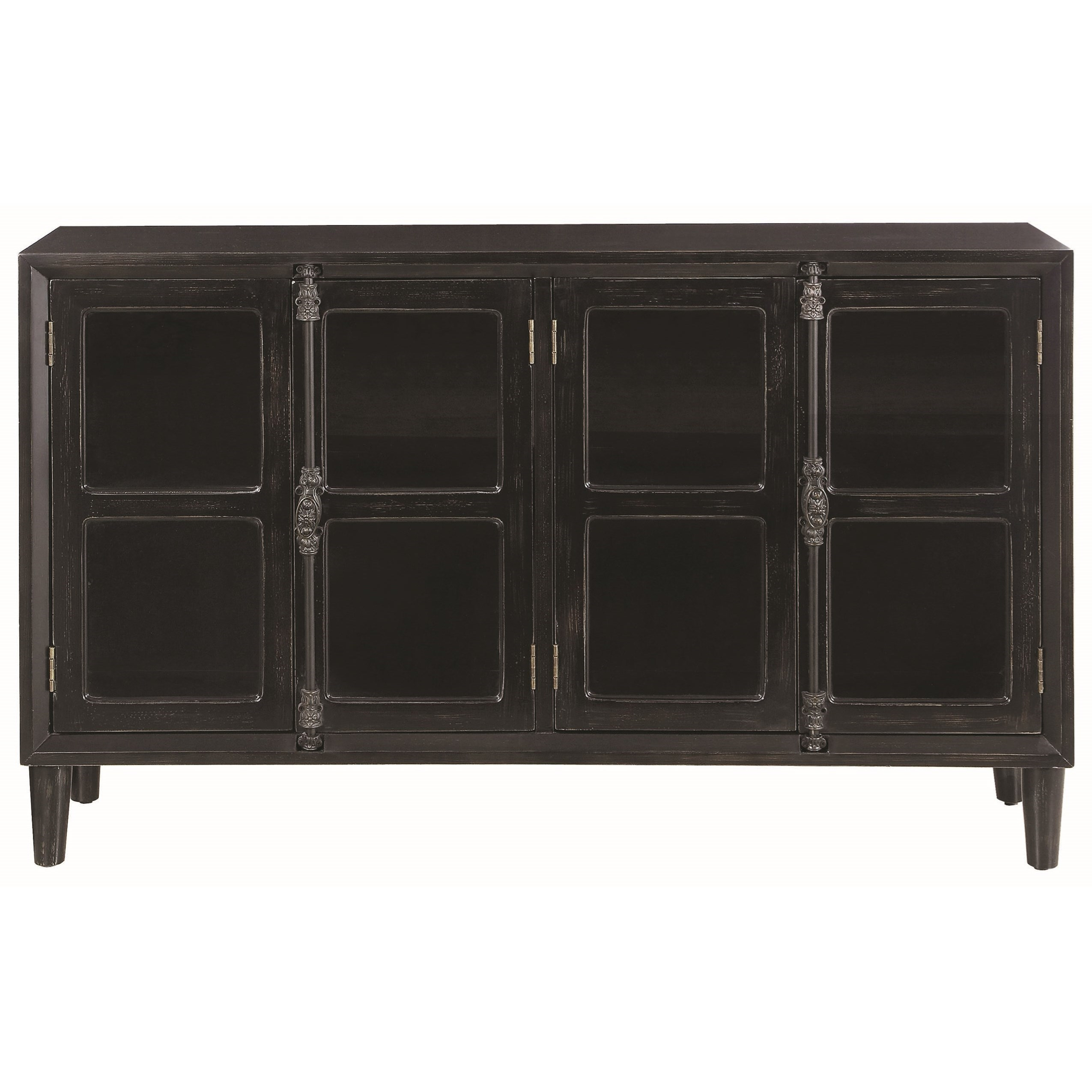 black accent cabinet with glass doors coaster wolf and gardiner products color cabinets table small bedside lamps storage counter height kitchen set target threshold oak lamp
