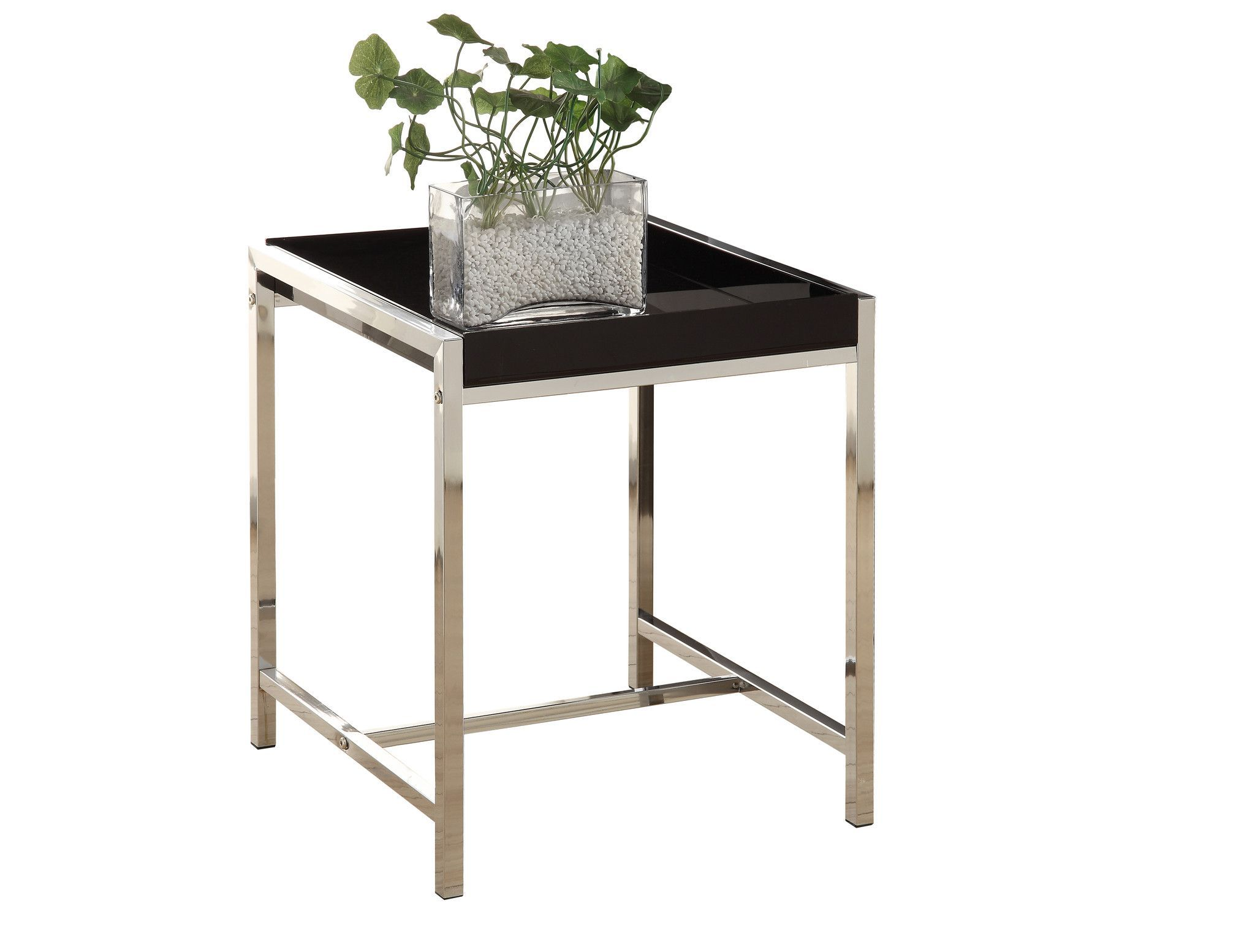 black acrylic chrome metal accent table products ikea bedroom cupboards cherry wood furniture teal cabinet bathroom fittings wine cube three legged foyer decorative tables living