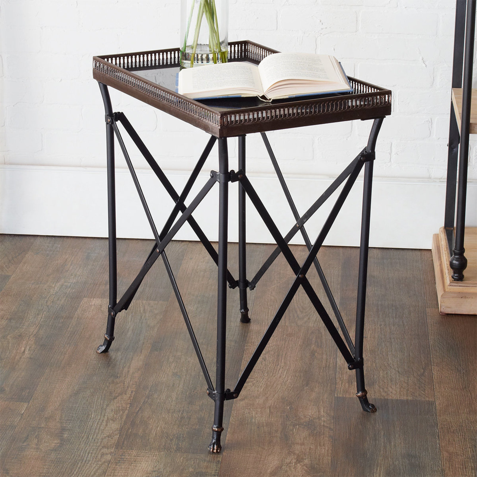 black and gold rectangular accent table shades light red asian lamp mirimyn round narrow coffee for small space marble iron metal couches edmonton cube tables ikea top breakfast