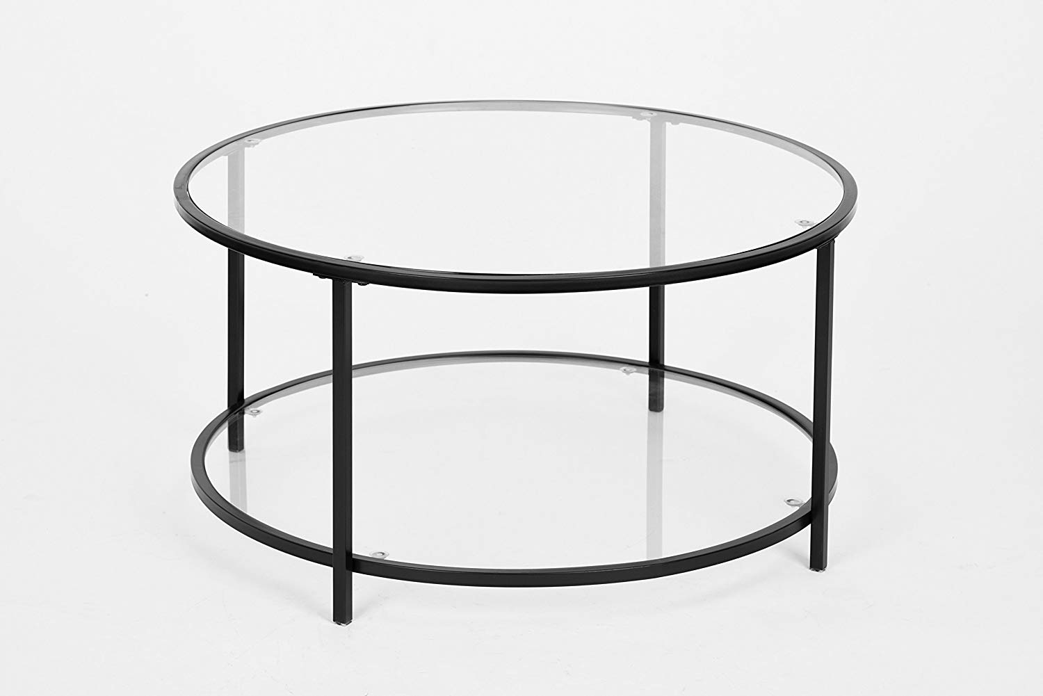 black finish glass tier modern round coffee table winsome wood cassie accent with top cappuccino kitchen dining tables for living room inch tablecloth pier one outdoor wicker