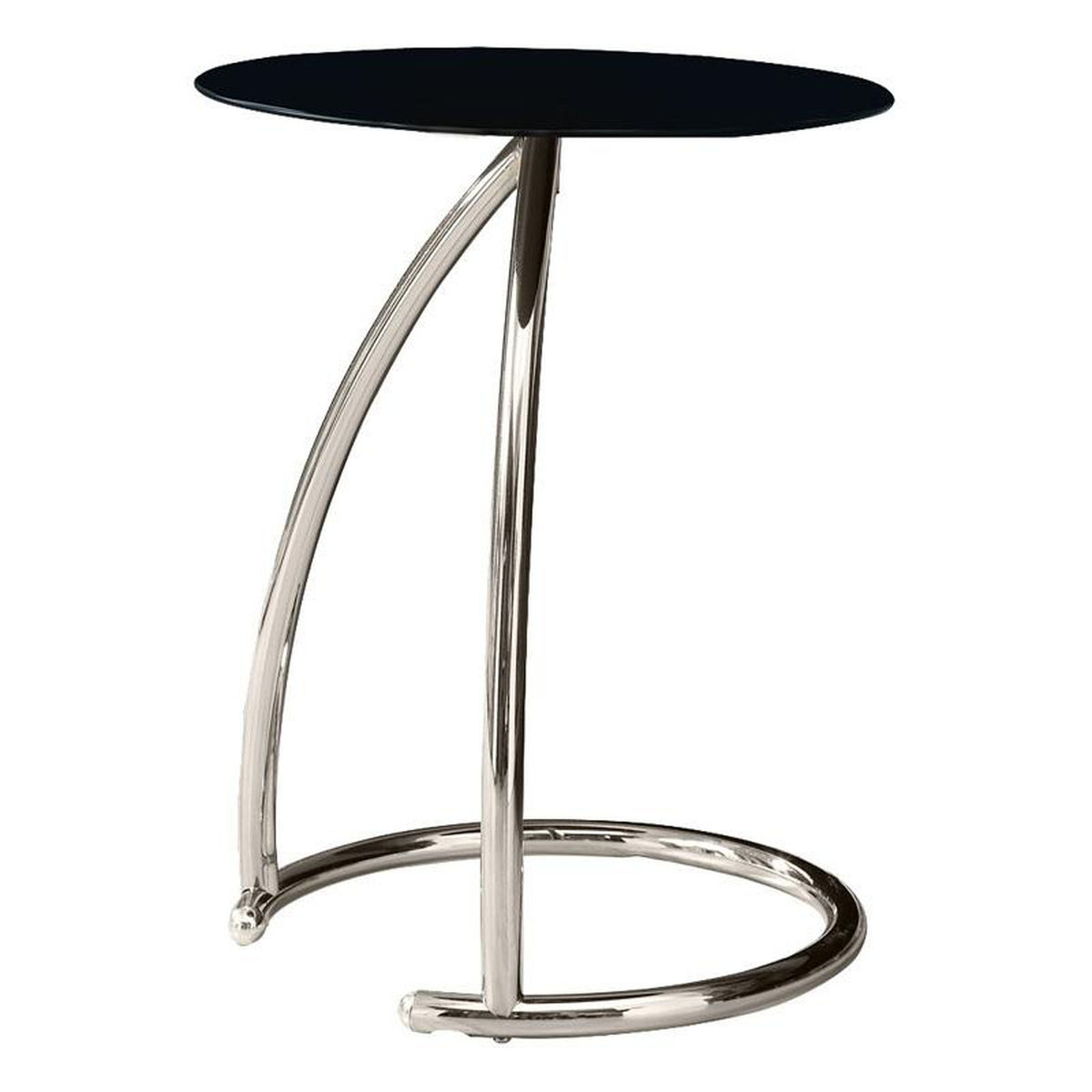 black glass top accent table bizchair monarch specialties msp main our curved chrome with tempered folding coffee marble dining set small wingback chair pedestal plant stand