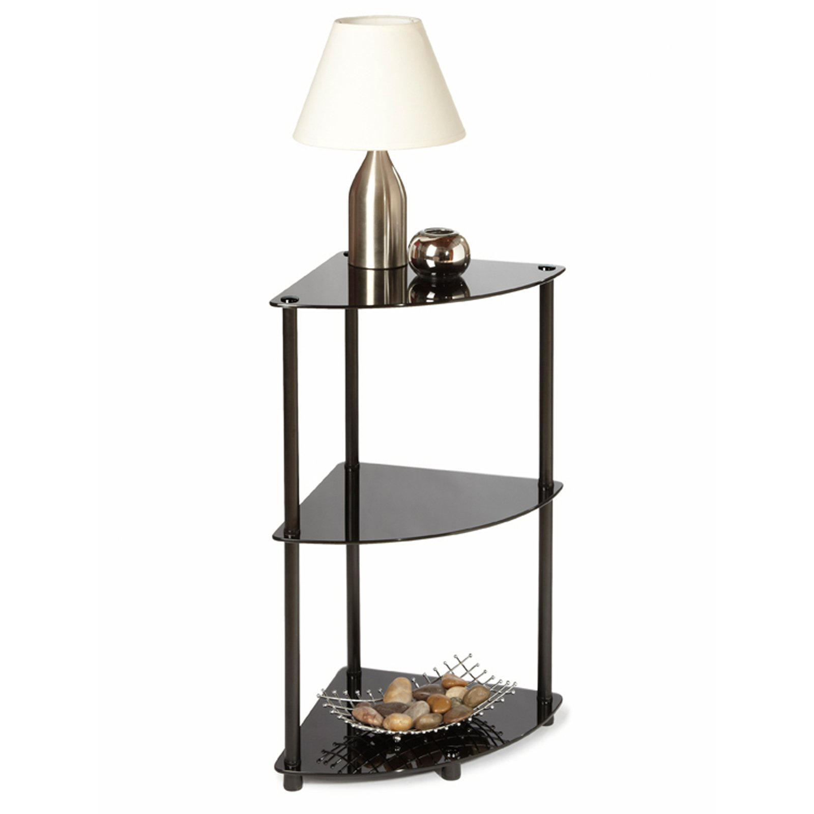 black glass triangle small corner end table with modern accent bench chest cabinet large wall clock target wicker furniture pottery barn wells chair sheesham wood dining oval