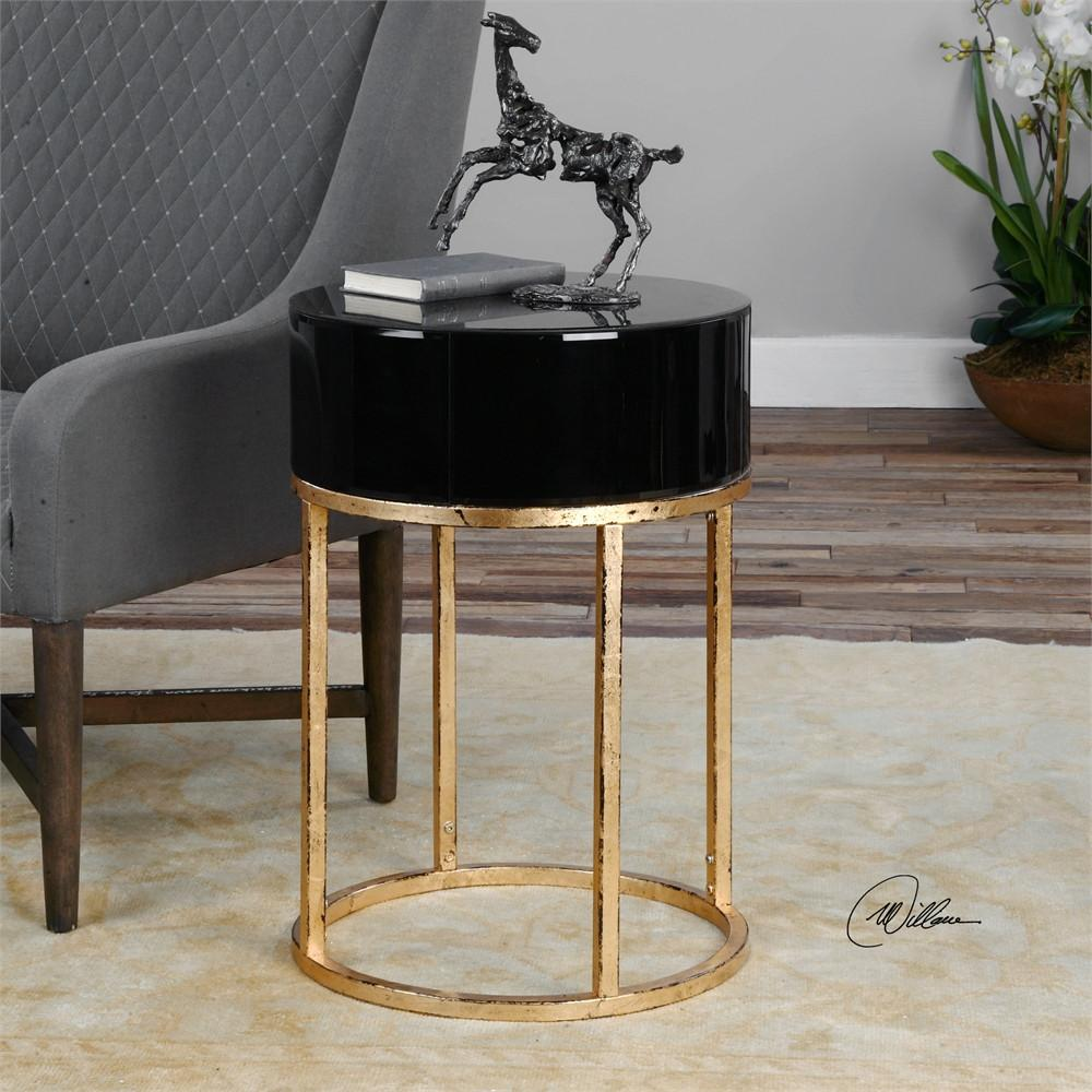 black gold round accent table quatrefoil wood grinch inflatable couches edmonton red asian lamp umbrellas that provide shade mirror ikea toy storage unit cabinets with glass doors