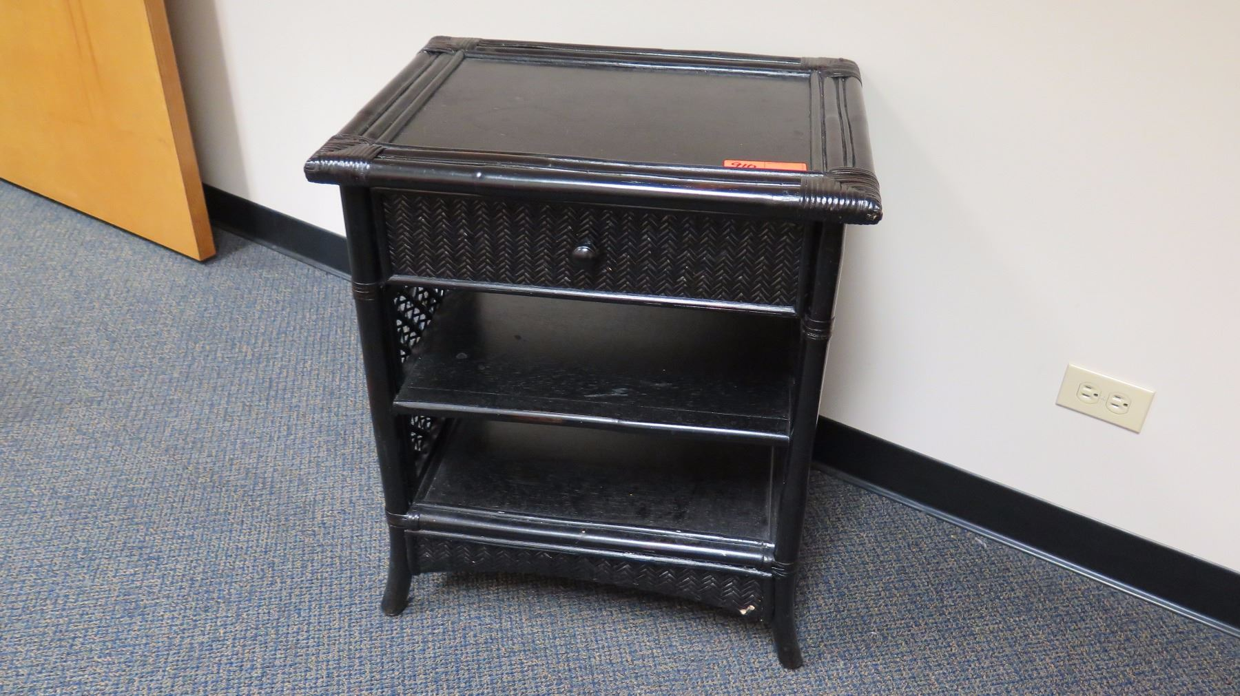 black lacquered side table nightstand rattan accent shelves lacquer yellow console patio beverage cooler storage chest pallet coffee and end sets with walnut trestle dining west