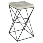 black metal accent table for ridge industrial loft concrete end transition floor trim cement outdoor dining white half moon console pine bedside tables dark wood coffee with 150x150