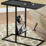 black metal accent table monarch modern end glass patio with umbrella hole foot long sofa nightstands clearance wine rack dining room sliding barn door jcpenney rugs occassional 150x150