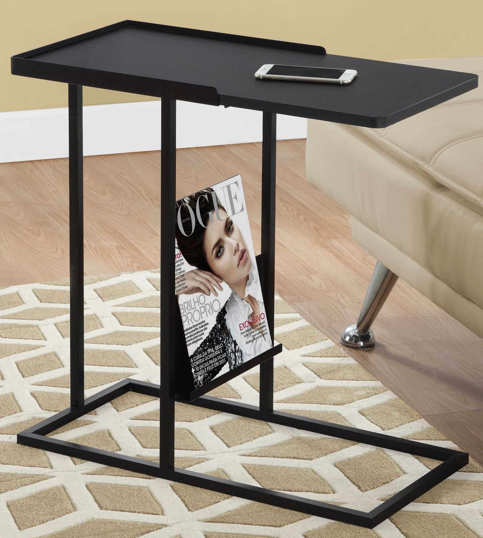 black metal accent table monarch modern end glass patio with umbrella hole foot long sofa nightstands clearance wine rack dining room sliding barn door jcpenney rugs occassional