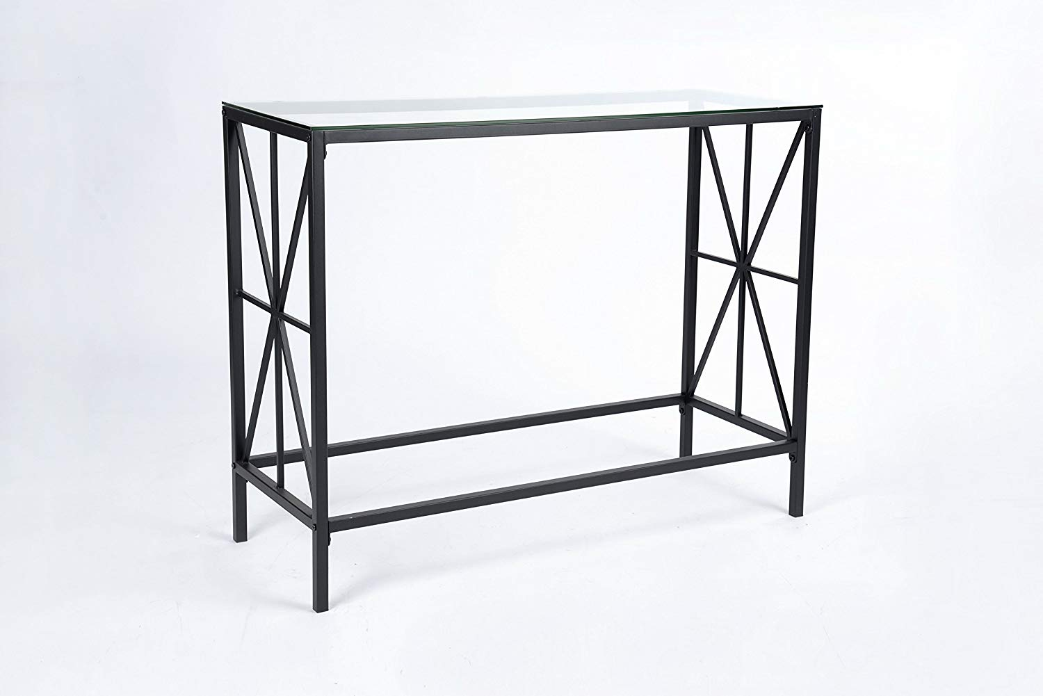 black metal frame clear tempered glass design chrome accent console sofa table with shelf kitchen dining crystal drawer knobs wood coffee long slim round counter height plastic
