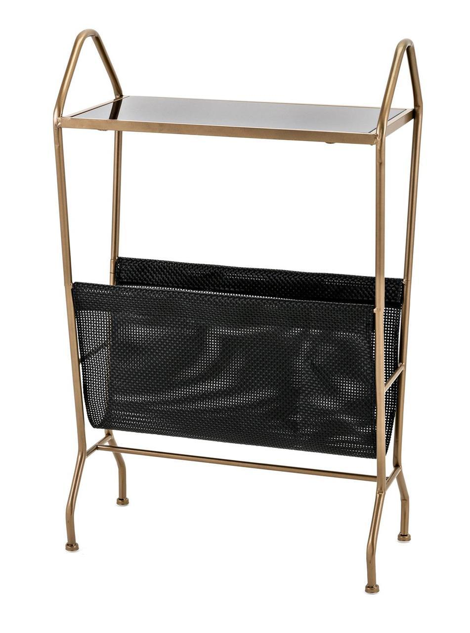 black metallic golden finish modern styled accent table with magazine holder and rack small end inch round coastal lamps couch winsome wood antique pine furniture queen bedroom