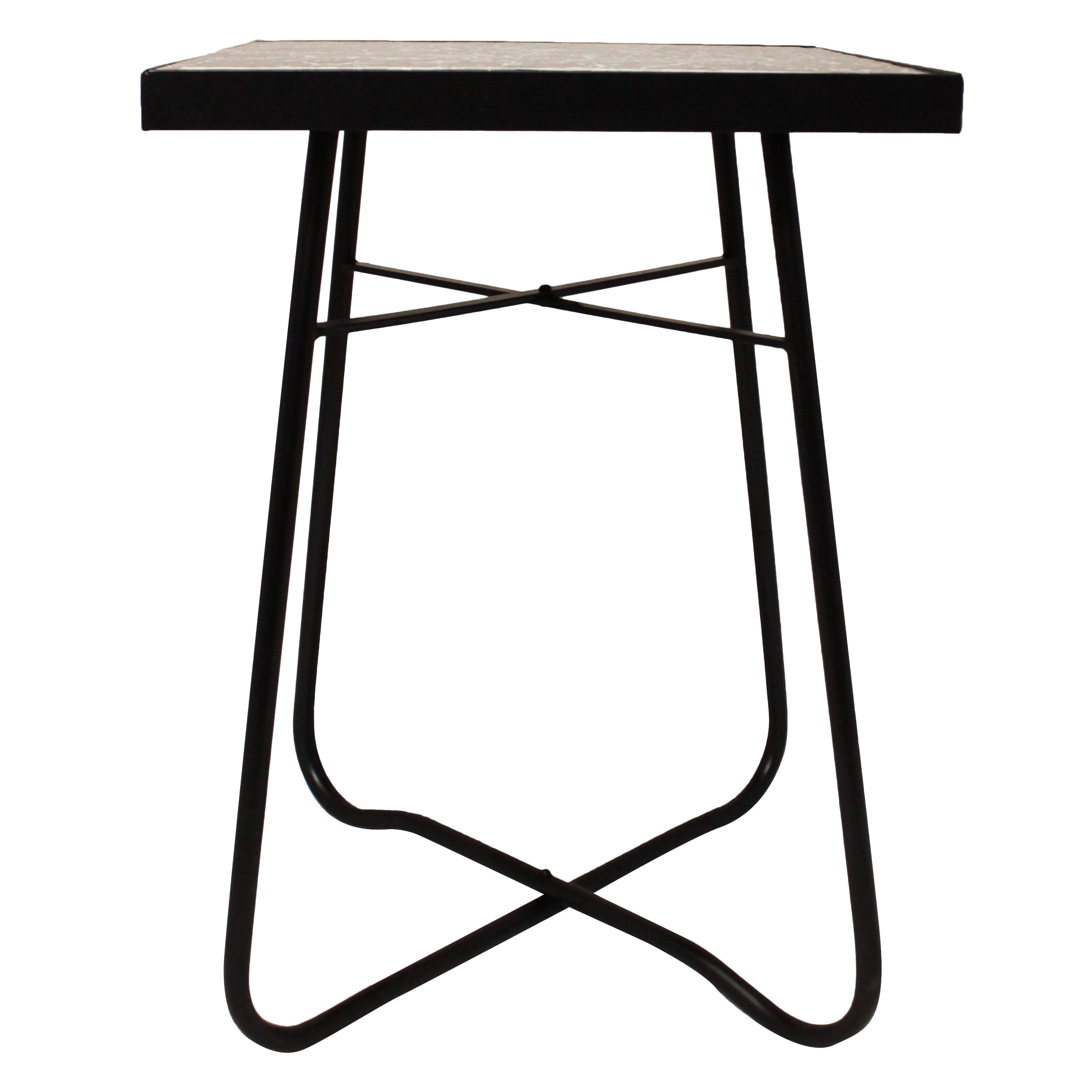 black mosaic square patio side accent table free shipping white today luxury garden furniture silver grey bedside lamps screw wooden legs rattan outdoor beach small teak drum