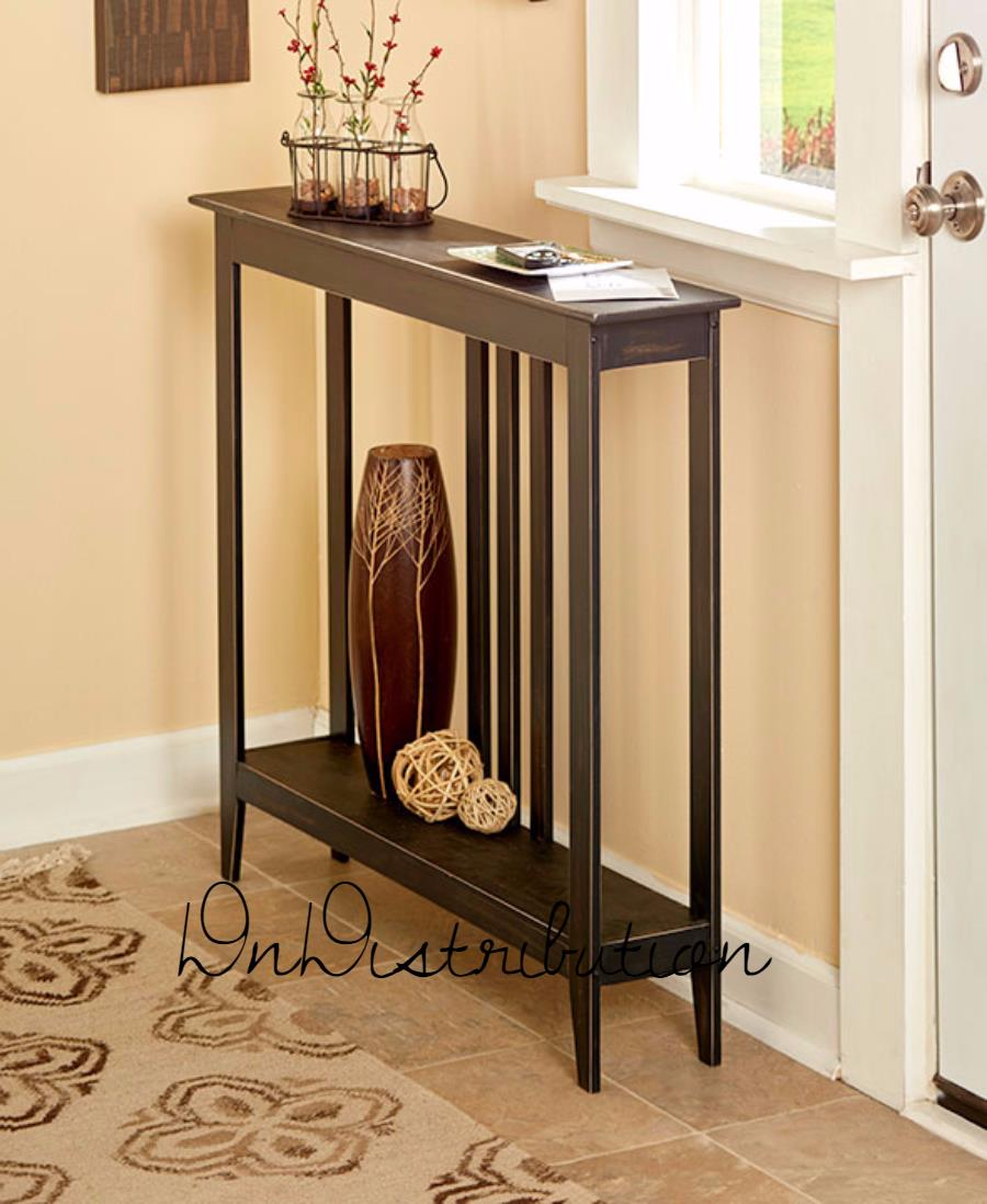 black narrow slim accent console table space saver entry sofa wooden thin couch behind mdf drum seat with back pier locations end tables toronto silver centerpieces for dining