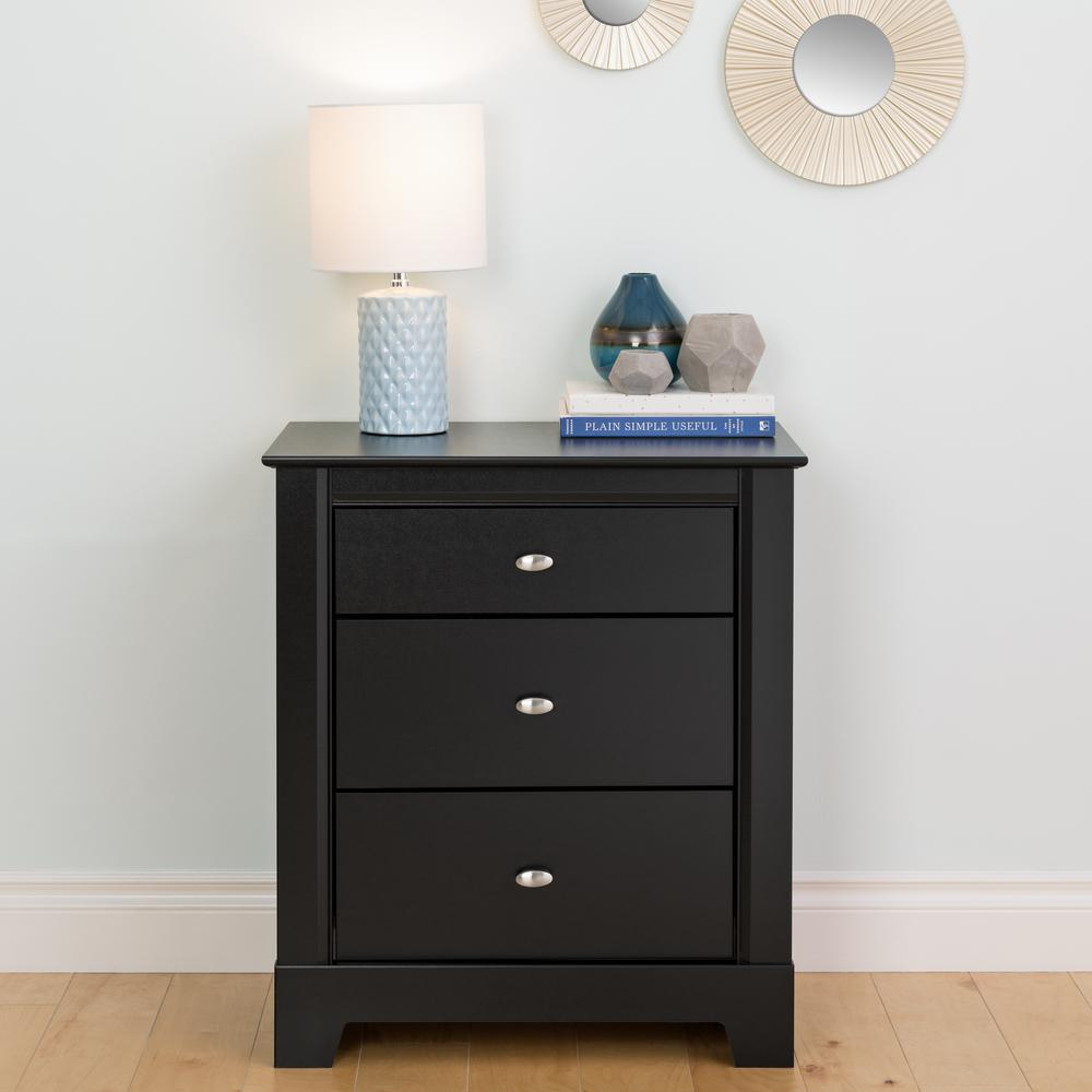black nightstands bedroom furniture the prepac bdnh winsome ava accent table with drawer finish kallisto nightstand acrylic coffee ikea folding stool target inch wide console