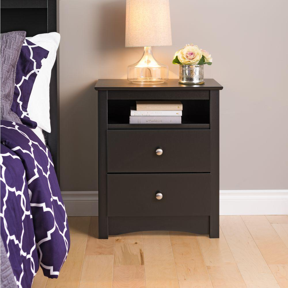 black nightstands bedroom furniture the prepac winsome ava accent table with drawer finish sonoma nightstand dining lamp small width console sheesham wood drop leaf folding chairs