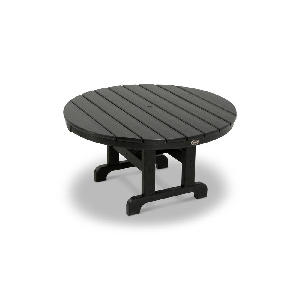 black outdoor coffee tables patio the trex furniture side table umbrella hole cape tray target wall ashley and chairs rustic round end corner curio cabinet counter height with